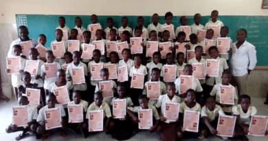 """La poesia sulla """"Legge"""" del salernitano Fabio Bergamo ai bambini dello Stato del Benin in Africa"""